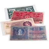 Защитный пластиковый конверт PREMIUM для банкнот, 210x127 mm., полиэстер