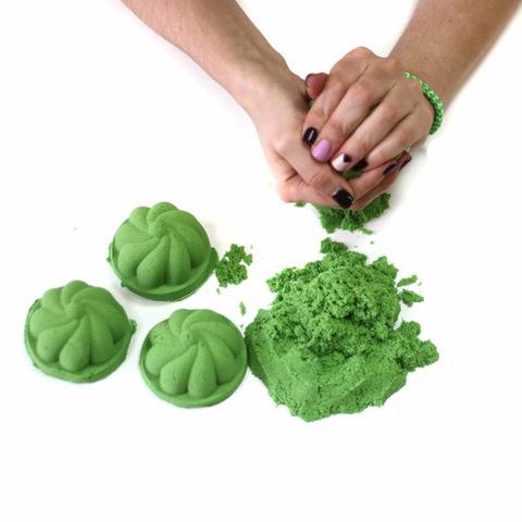 Космический песок 3 кг, зеленый 3