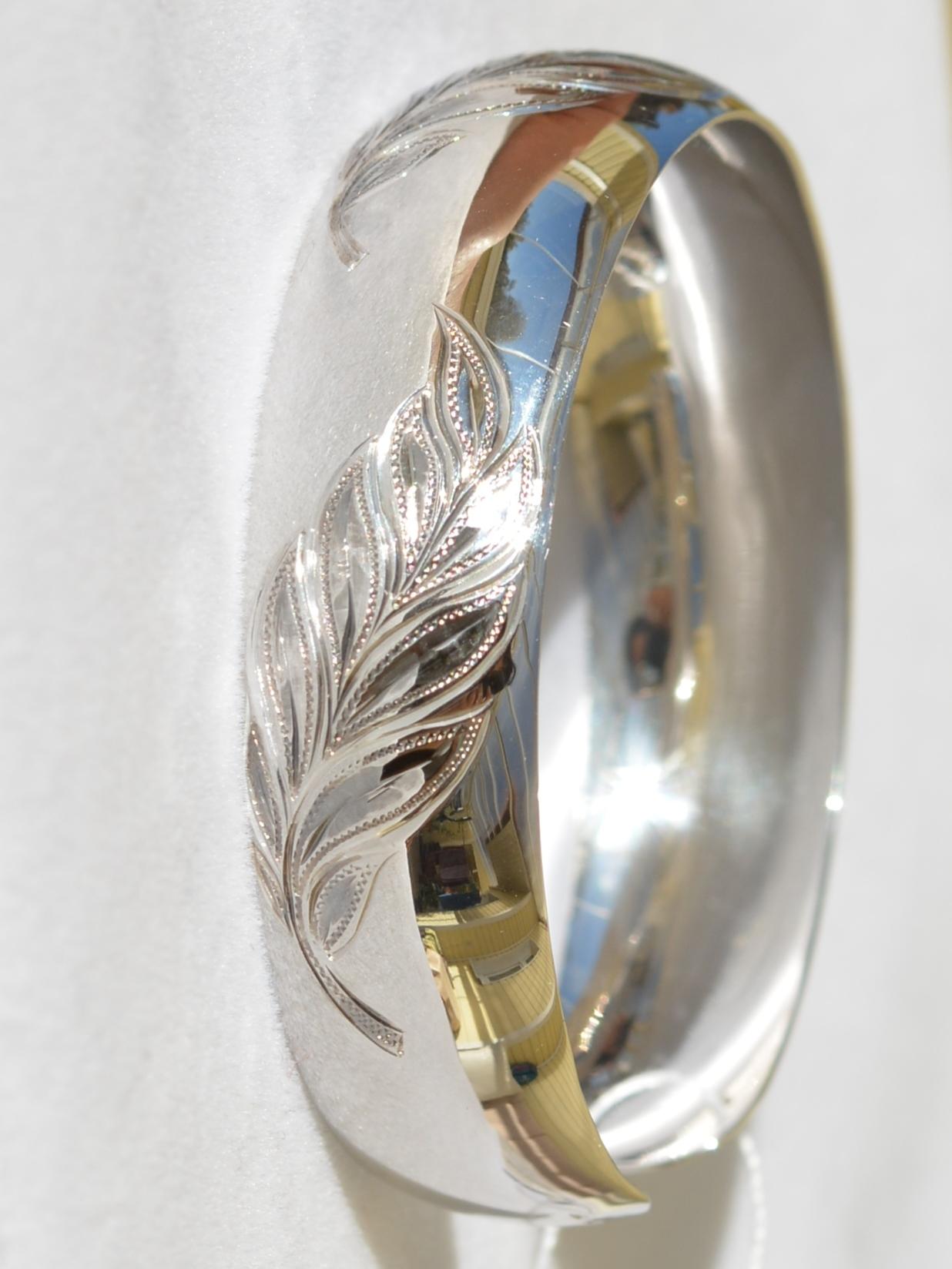 Плума (серебряный браслет)