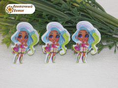 (6)Пластиковый кабошон Hairdorables Гармония с сумочкой (пакет 20 шт)