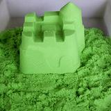 Космический песок 3 кг, зеленый 4