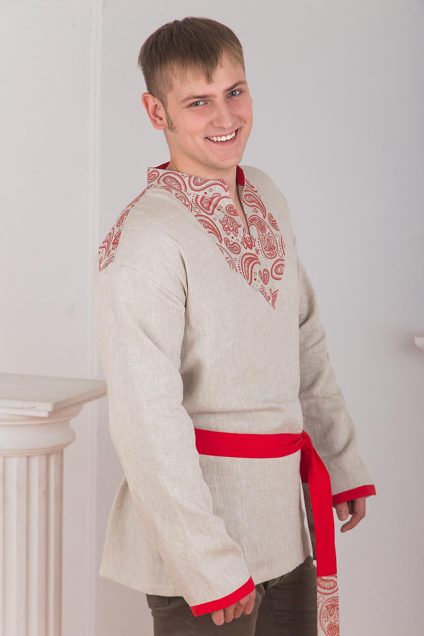 Русская рубаха Княжич вид сбоку