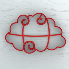 Облако с завитушками