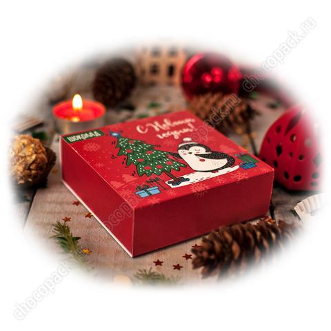 Упаковка для 4 шоколадных конфет. НГ