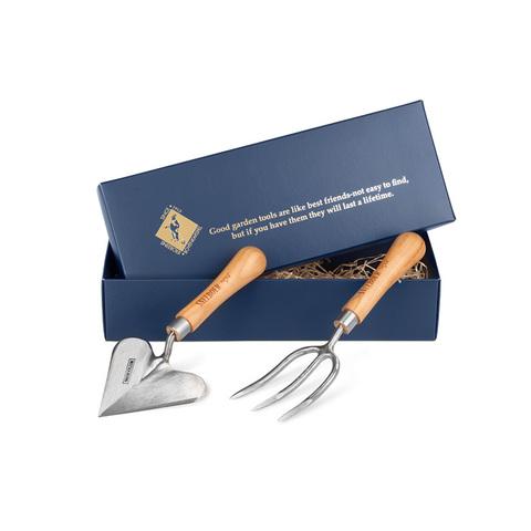 Набор садовых инструментов (совок-сердце+вилка круглая) Sneeboer, в подарочной коробке