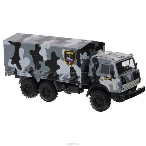 KAMAZ-4310 OMON SWAT gray camouflage 1:43 Technopark