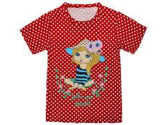 DLM11-70 футболка детская, красная