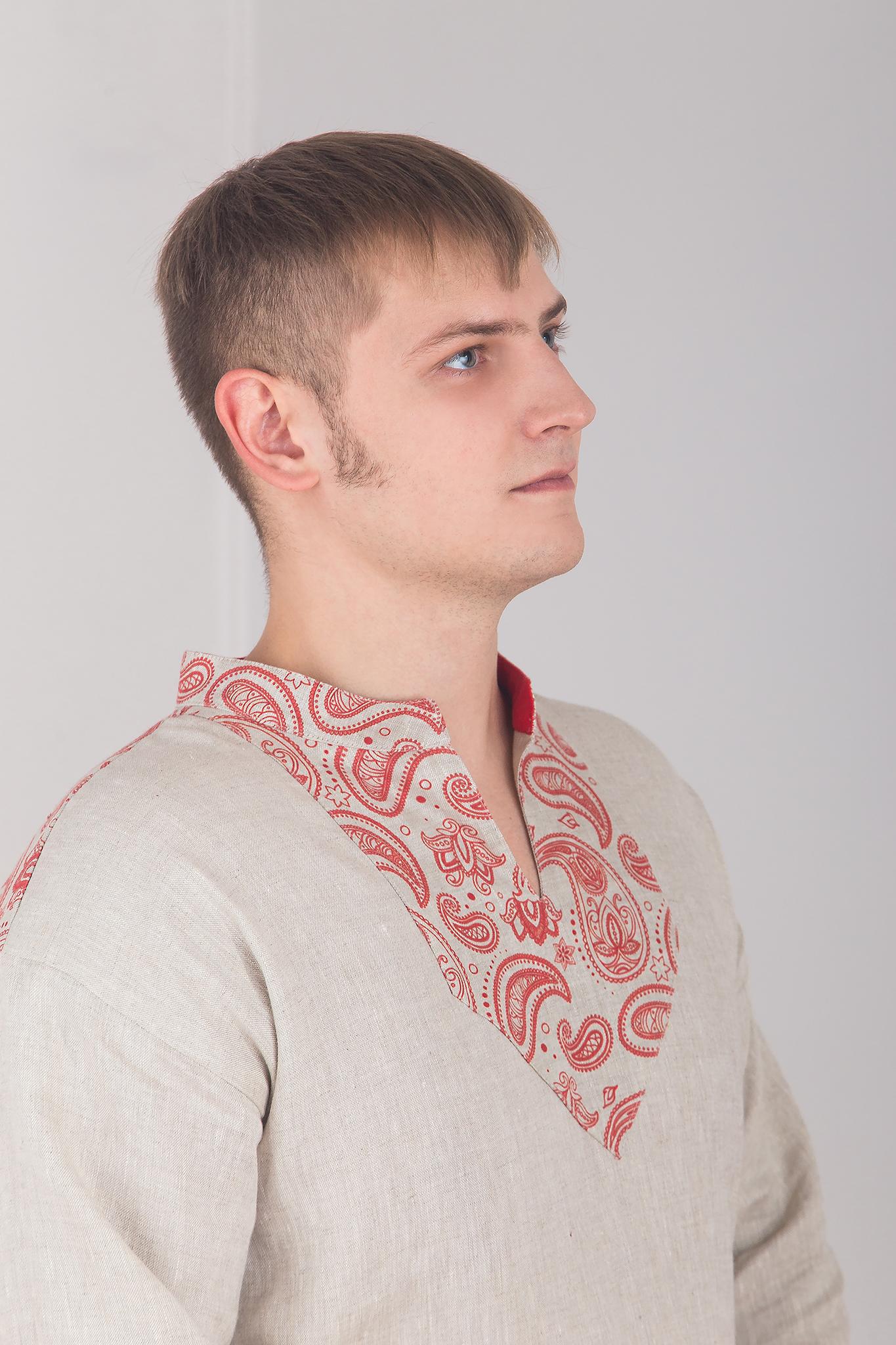 Русская рубаха Княжич кокетка