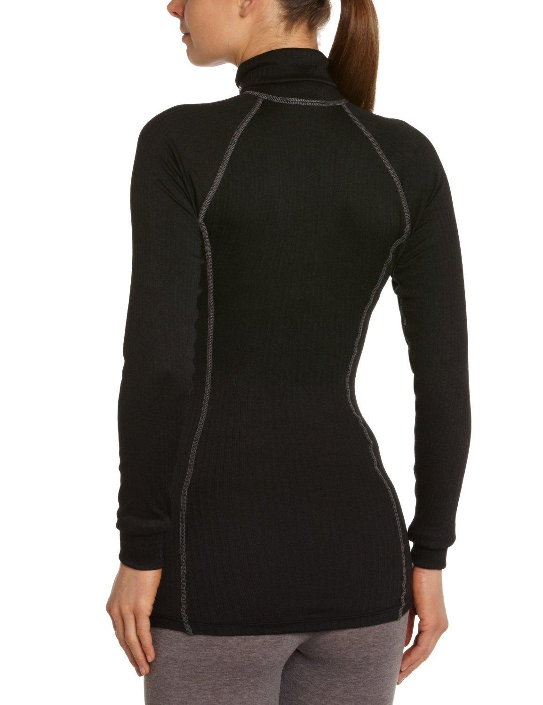 Женское термобелье рубашка крафт Active Zip black (193897-1999)