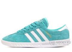 Кроссовки Женские Adidas Hamburg Suede Turquoise White