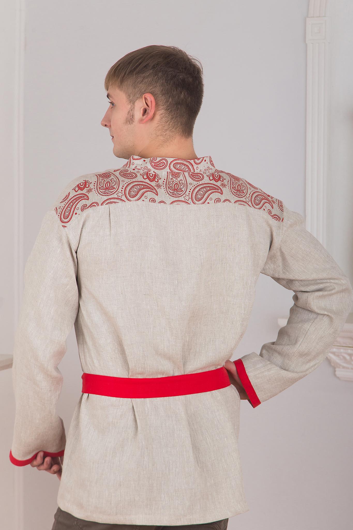 Русская рубаха Княжич вид сзади