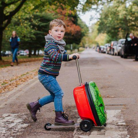 Самокат-чемодан Zinc Динозавр, детский