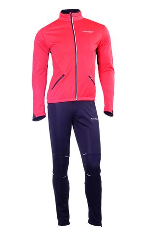 NORDSKI PREMIUM детский утепленный лыжный костюм красный