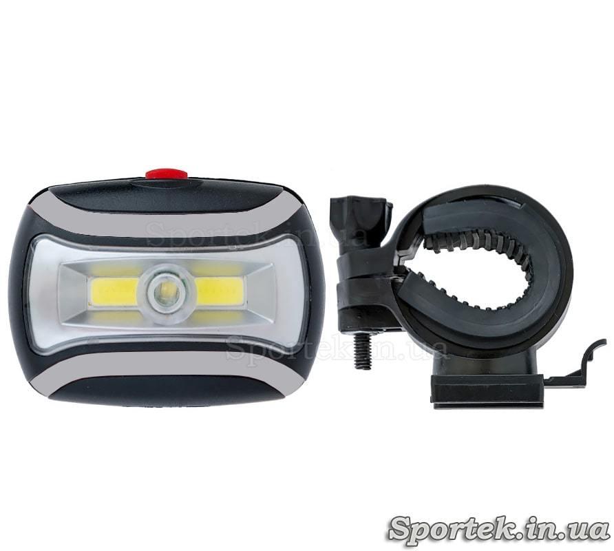 Передний трехрежимный велосипедный фонарь (CH-2029) черно-серый