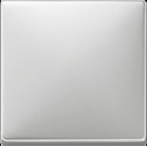 Выключатель одноклавишный. Цвет Стальной. Merten. MTN3111-0000+MTN412146