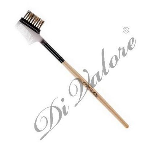 Di Valore Щеточка-расческа для бровей и ресниц (натуральный ворс) 115-077