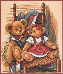 DIMENSIONS Teddies on Quilt (Мишки на одеяле)