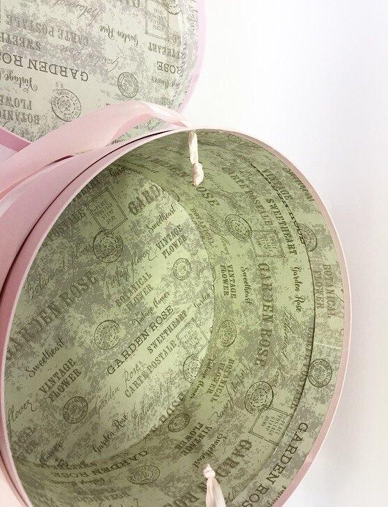 Шляпная коробка 32 см Цвет: Нежно розовая . Розница 700 рублей .