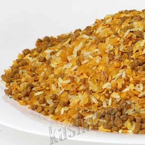Чечевица 'Карри' с рисом и мясом 'Каша из топора'
