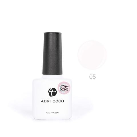Гель-лак ADRICOCO Allure сream №05 камуфлирующий молочный (8 мл.)