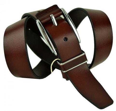 Ремень красно-коричневый мужской брючный 35svar-k-005
