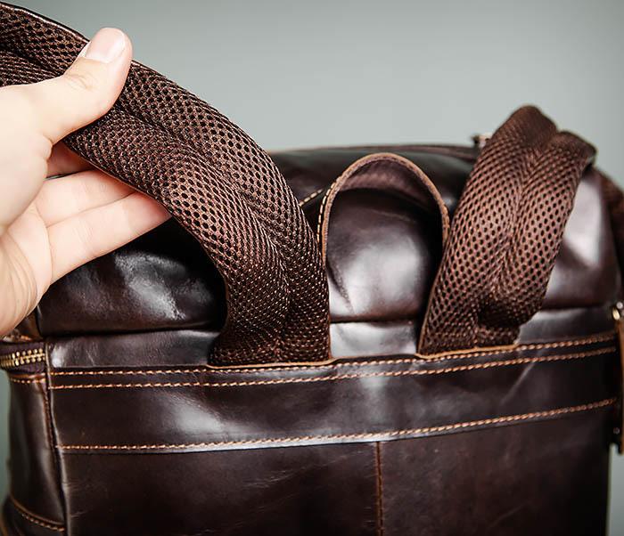 BAG461-2 Большой мужской рюкзак из натуральной кожи фото 08