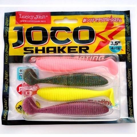 Виброхвост Lucky John JOCO SHAKER 3.5in (8,89 см), цвет MIX1, 4 шт.