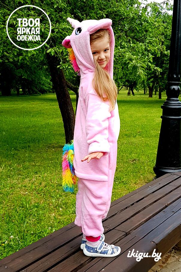 """Детские пижамы кигуруми """"Облачно-розовый единорог"""" obl_roz22.jpg"""