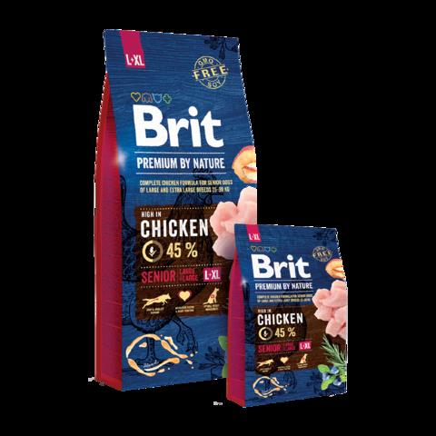 Brit Premium By Nature Senior L+XL Сухой корм для пожилых собак крупных и гигантских пород