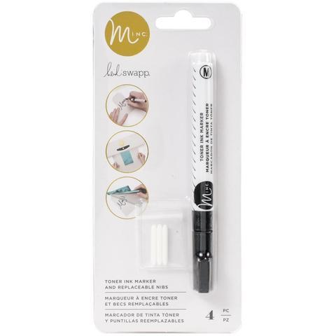 Тонер-маркер со сменными насадками  -Heidi Swapp Minc Toner Ink Pen W/Nibs  4шт.