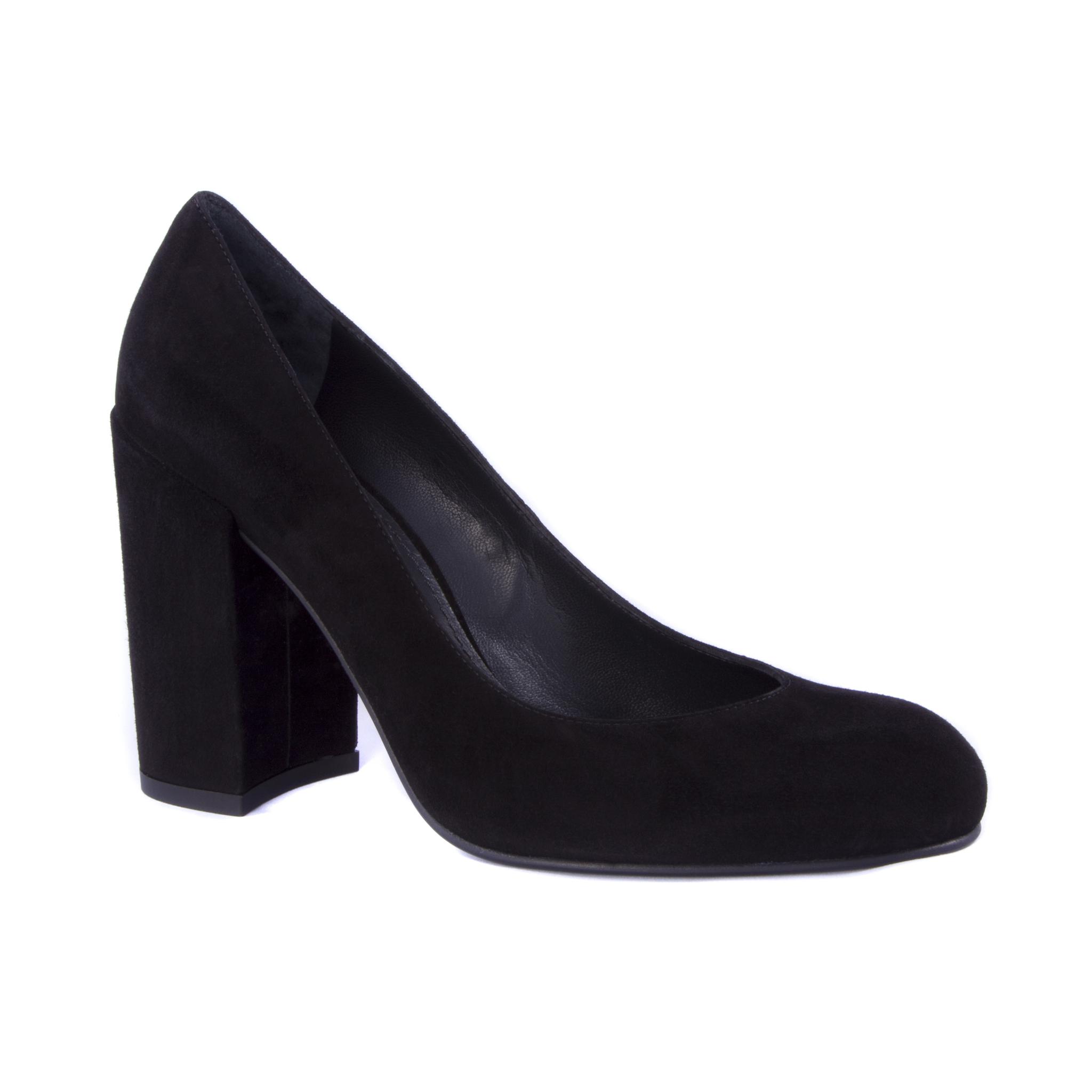 e4721e8db Женские черные замшевые туфли Stuart Weitzman 41240 на устойчивом ...