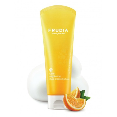 Frudia Citrus Brightening Micro Cleansing Foam Фрудиа Микропенка для умывания с цитрусом, придающая сияние коже 145 г