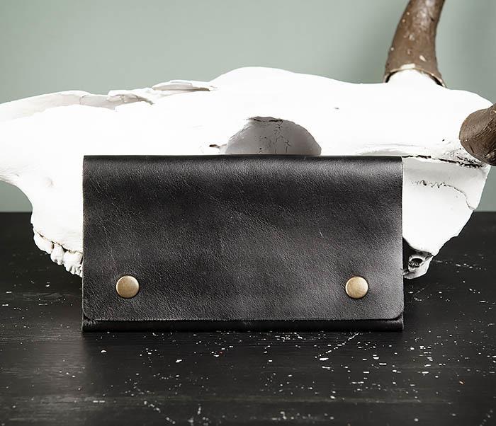 Boroda Design, Мужской тонкий клатч из натуральной кожи клатч 00031 1 26 black blue df мужской из натуральной кожи черного цвета