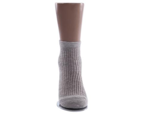 Носки детские тонкие светло-серые в сеточку