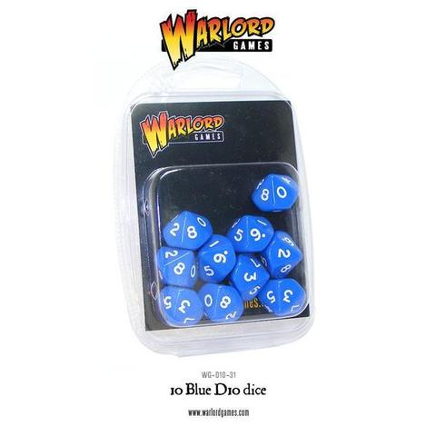 Warlord D10 Dice Pack - Blue (10)