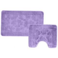 Набор ковриков для ванной BANYOLIN 55х90 см ворс, сиреневый