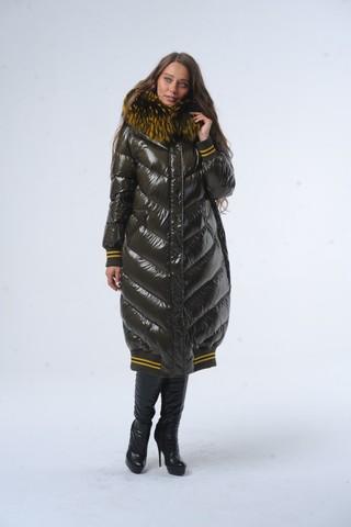 Куртка для беременных 11017 хаки-желтый