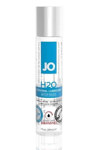 Классический возбуждающий лубрикант на водной основе JO H2O Warming, 1 oz (30мл.) фото
