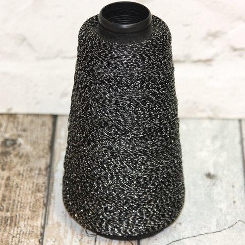 Вискоза с люрексом черный с серебром