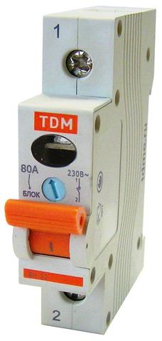Выключатель нагрузки (мини-рубильник) ВН-32 1P 80A TDM