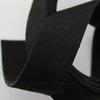 Шнур замшевый (искусств), 20х1 мм, цвет - черный, 95 см