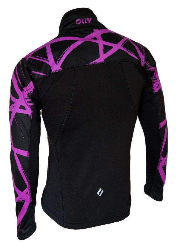 Беговая ветрозащитная куртка Olly Bright Sport (140305) фиолетовая фото