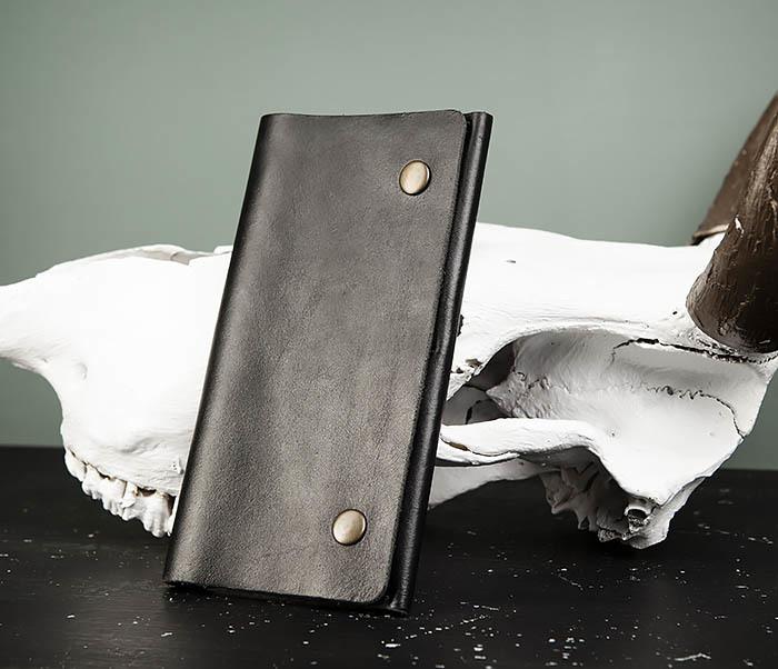 WB185-1 Мужской тонкий клатч из натуральной кожи фото 03