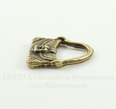 "Подвеска ""Сумочка"" (цвет - античная бронза) 15х13 мм"