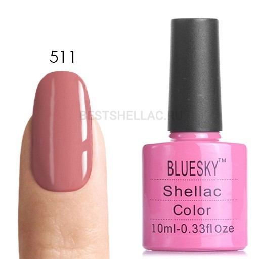 Bluesky shellac Гель-лак Bluesky № 40511/80511 Rose Bud, 10 мл 511.jpg