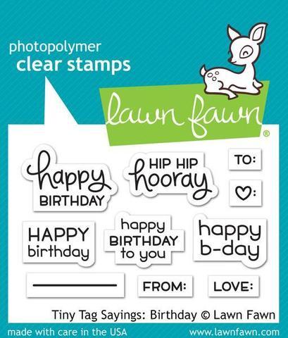 Набор штампов  5х7.5см - Tiny Tag Sayings: Birthday