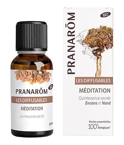Смесь эфирных масел для ультразвукового диффузора Медитация, Pranarom
