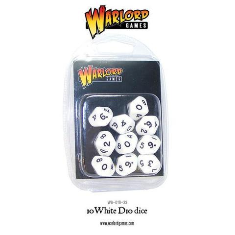 Warlord D10 Dice Pack - White (10)