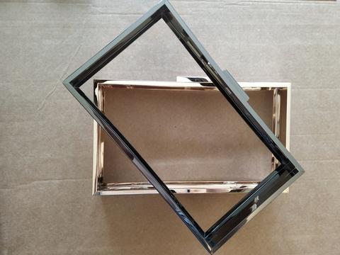 Рамочный замок (клатч-бокс) прямоугольный 21 * 11.8 см, (выбрать цвет)