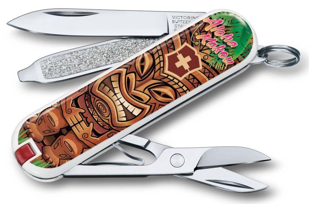 "Нож-брелок Victorinox Classic LE 2018, 58 мм, 7 функций, ""Aloha Kakou"""
